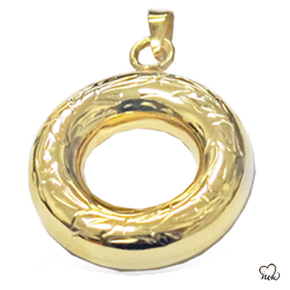 Circle of Love Cremation Jewelry - Gold Plated