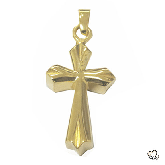 Elegant Cross Cremation Jewelry - Gold Plated