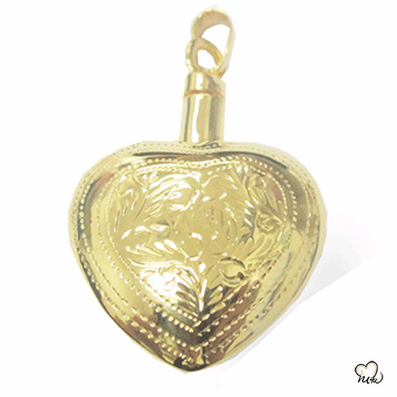 Elegant Heart Cremation Jewelry - Gold Plated