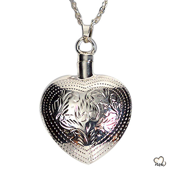 Silver Art Heart Jewelry