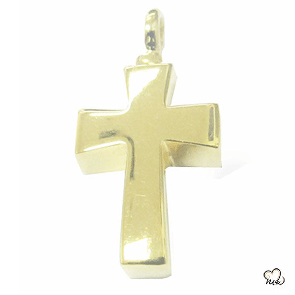 Classic Cross Cremation Jewelry - Gold Plated