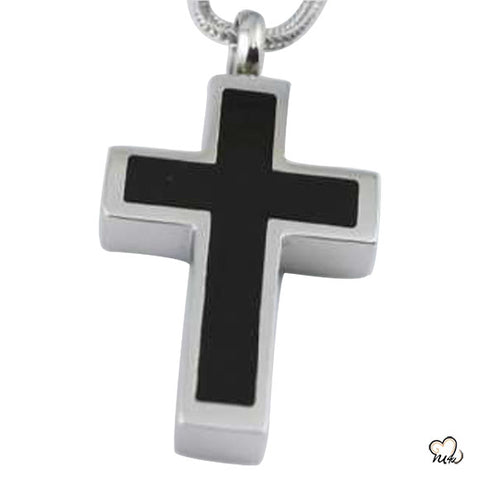 Silver Black Cross Jewelry