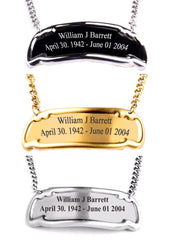 Customized Engraved Brass Name Tag - 3 Styles Gold, Pewter or Black,  - Memorials4u