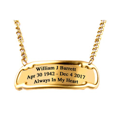 Customized Engraved Brass Name Tag
