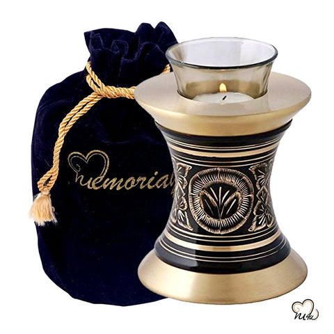 Elite Golden Aura Tealight Cremation Urn