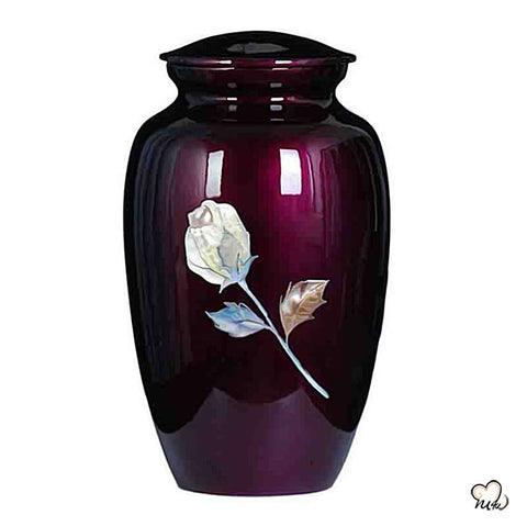 Imperial Rose Hand Painted Cremation Urn