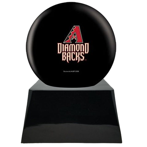 Baseball Team Urn - Arizona Diamondbacks Ball Decor with Custom Metal Plaque Baseball Cremation Urn for Human Ashes - MLB URN - Memorials4u
