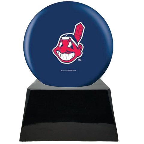 Baseball Cremation Urns For Human Ashes - Baseball Team Cremation Urn and Cleveland Indians Ball Decor with custom metal plaque - Memorials4u