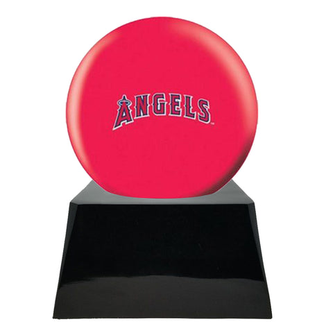 Baseball Cremation Urn with Optional Los Angeles Angels Of Anaheim Ball Decor and Custom Metal Plaque