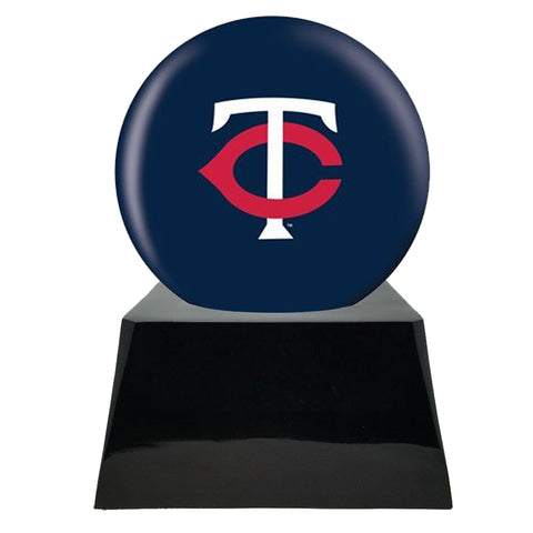 Baseball Cremation Urn with Optional Minnesota Twins Ball Decor and Custom Metal Plaque