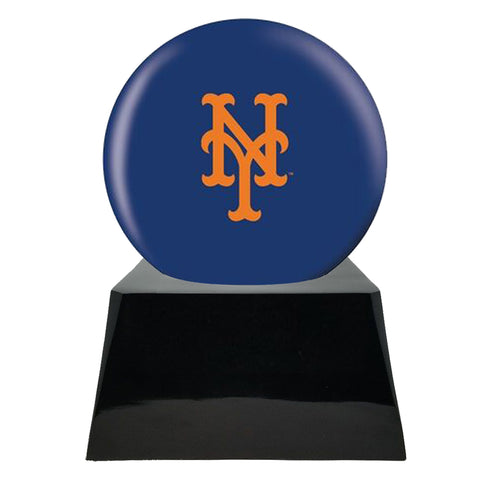 Baseball Team Urn - New York Mets Ball Decor with Custom Metal Plaque Baseball Cremation Urn for Human Ashes - MLB URN - Memorials4u