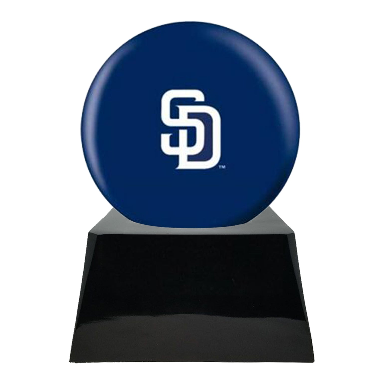 Baseball Team Urn - San Diego Padres Ball Decor with Custom Metal Plaque Baseball Cremation Urn for Human Ashes - MLB URN - Memorials4u