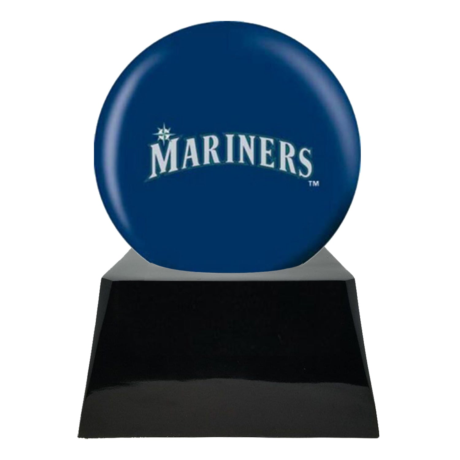 Baseball Team Urn - Seattle Mariners Ball Decor with Custom Metal Plaque Baseball Cremation Urn for Human Ashes - MLB URN - Memorials4u