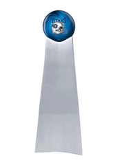 Championship Trophy Cremation Urn with Optional Football and Tennessee Titans Ball Decor and Custom Metal Plaque