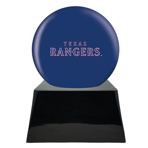 Baseball Cremation Urns For Human Ashes - Baseball Team Cremation Urn and Texas Rangers Ball Decor with custom metal plaque - Memorials4u