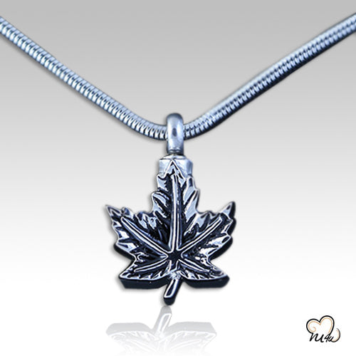 Maple Leaf Pendant, Cremation Pendant - Memorials4u