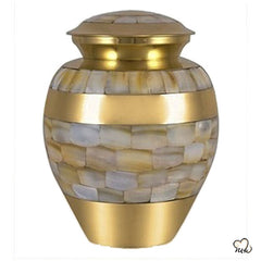 Mother of Pearl Infant Urn, Infant Urn - Memorials4u