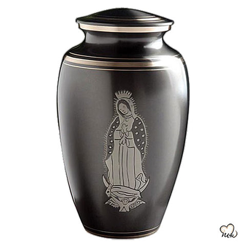 Our Lady of Guadalupe Religious Urn - Slate and Pewter