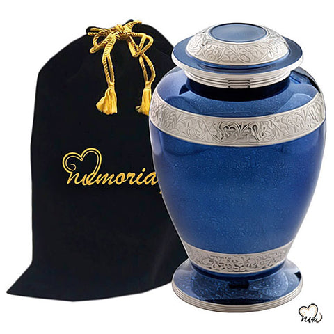 Palatinate Blue Urn for Ashes