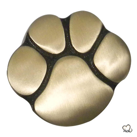 Pet Paw Keepsake Cremation Urn for Ashes in Gold