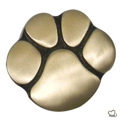 Pet Keepsake Urn - Paw Print Pet Urn - Custom Urn for Pet Ashes in Gold -  Memorials4u
