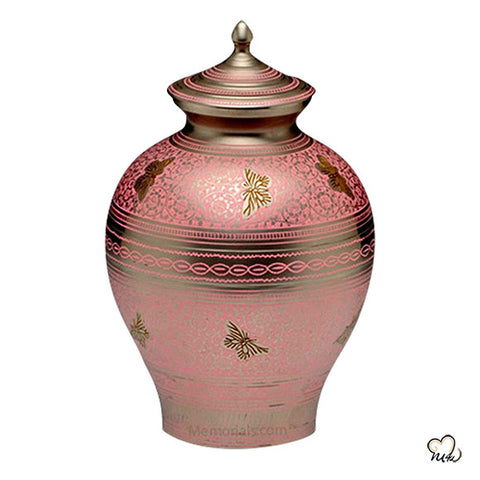 Decorative Butterfly Urn for Ashes in Pink
