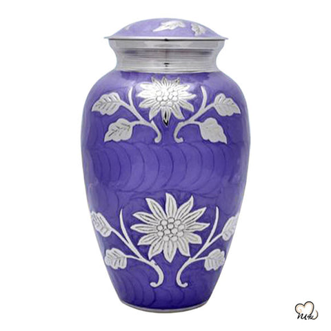 Royal Purple Cremation Urn
