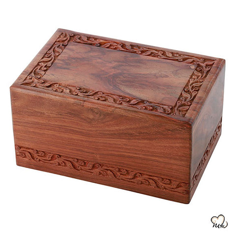 Solid Rosewood Wooden Urn for Ashes
