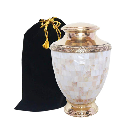 Atlas Mother of Pearl Cremation Urn