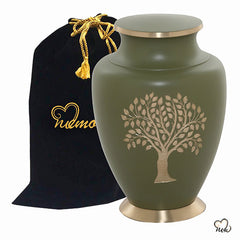 Tree of Life Brass Cremation Urn, Brass Urns - Memorials4u