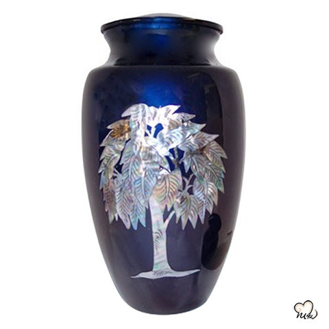 Eternal Tree Mother of Pearl Cremation Urn