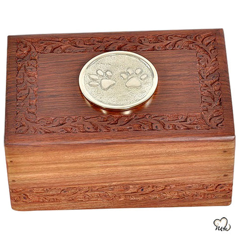 Paw Inlaid Pet Urn - Large