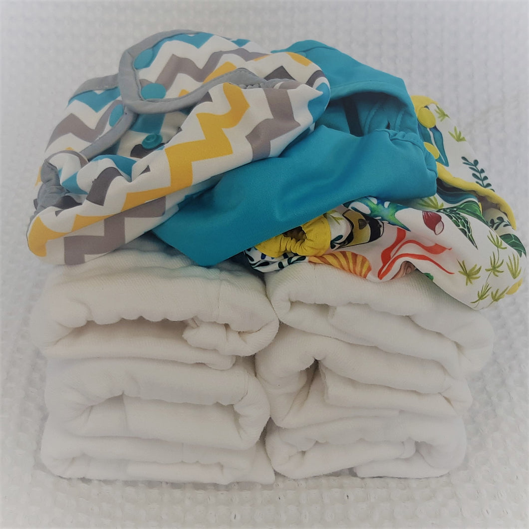 Add prefolds and covers - Newborn