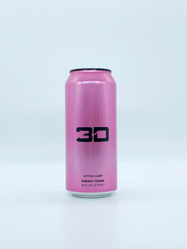 3D Energy - Cotton Candy 16oz