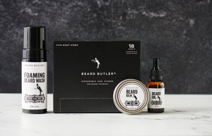 BB® Ultimate Bundle: Sink Guards (18ct) + Beard Oil + Beard Balm + Foaming Beard Wash: Master Bruce™ Collection