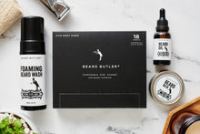 Load image into Gallery viewer, BB® Ultimate Bundle: Sink Guards (18ct) + Beard Oil + Beard Balm + Foaming Beard Wash: The Stark™ Collection