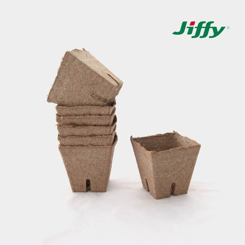 Jiffy Pot Square with Slits (8cm x 8cm) 1200/crt