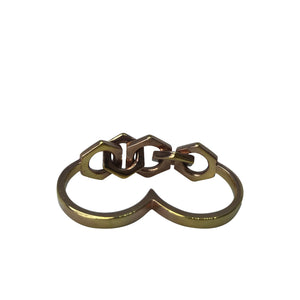 Hex Two Finger Ring - byrogue.co.uk