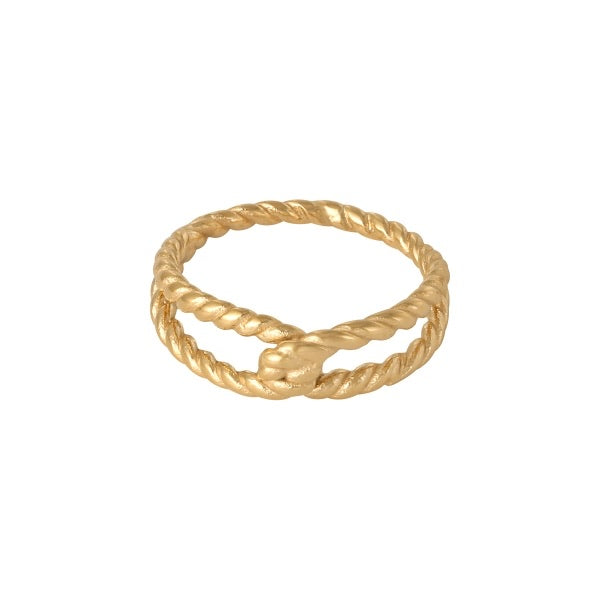 Bolt Twisted Rope Ring - byrogue.co.uk