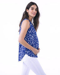 AMANDA-blue raindrop nursing and maternity top Loyal Hana