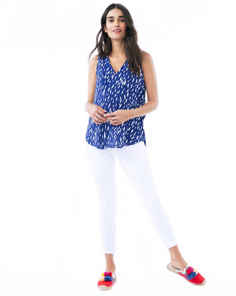 AMANDA-blue raindrop nursing and maternity top