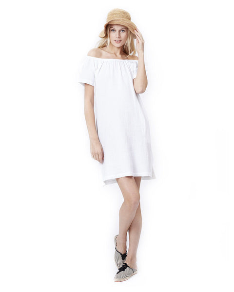 ARIEL- White Nursing and Maternity Dress