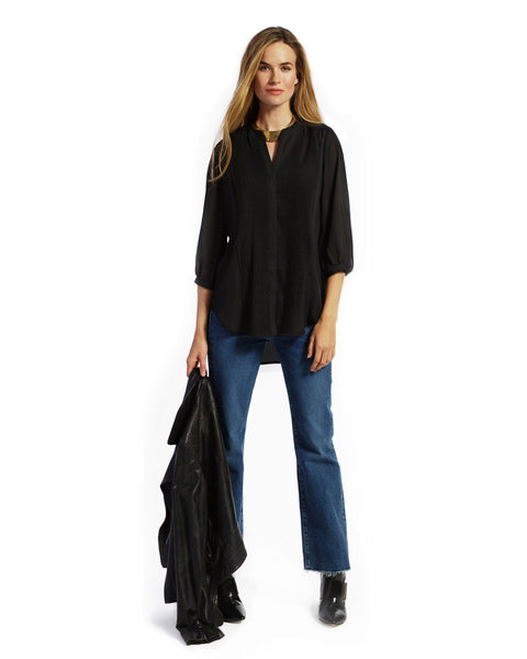 AUDREY IN BLACK - NURSING AND MATERNITY TUXEDO TOP