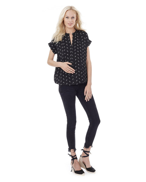 CARRIE- Black arrow nursing and maternity top