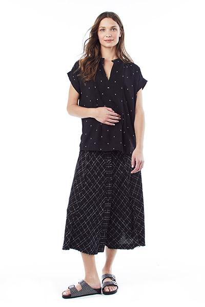 CARRIE - Nursing and Maternity Blouse - Black Birds
