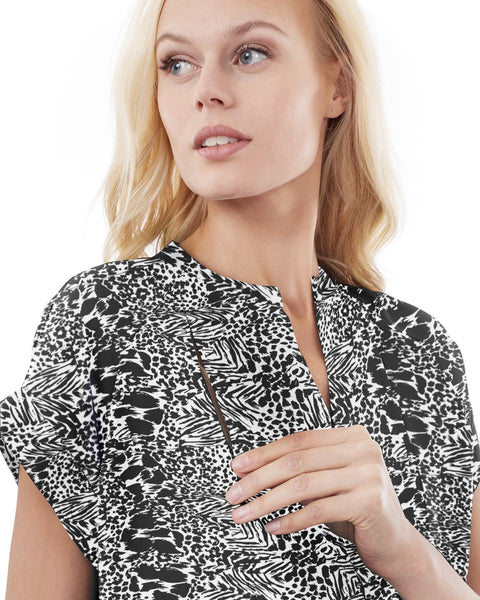 CARRIE - ZEBRA NURSING AND MATERNITY BLOUSE