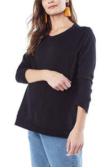 Christy - Black Long Sleeve Top long sleeve top basic Loyal Hana