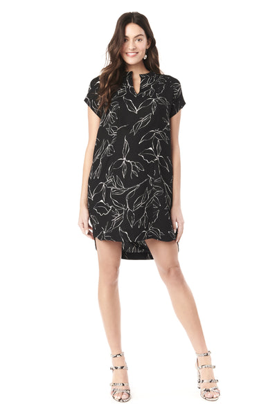 CYBELLE IN ABSTRACT FLOWER - NURSING & MATERNITY DRESS