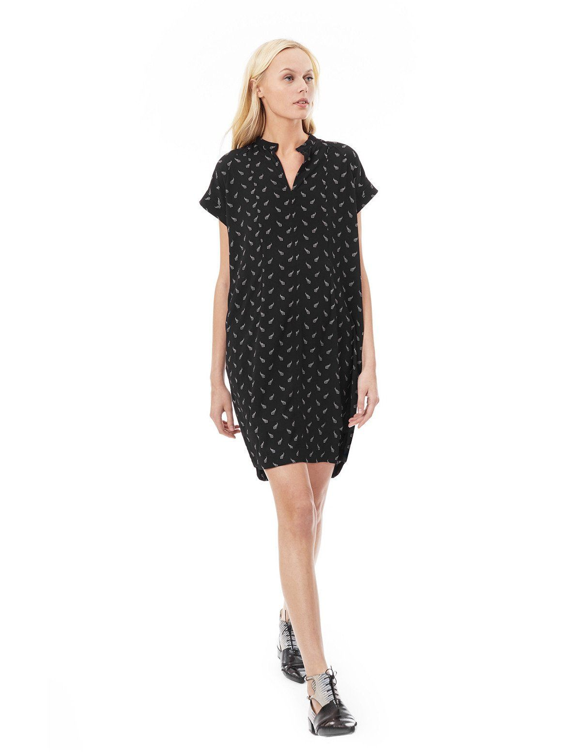 802410219c4ed Cybelle - Black Arrowhead nursing and maternity dress short sleeve dress  Loyal Hana ...