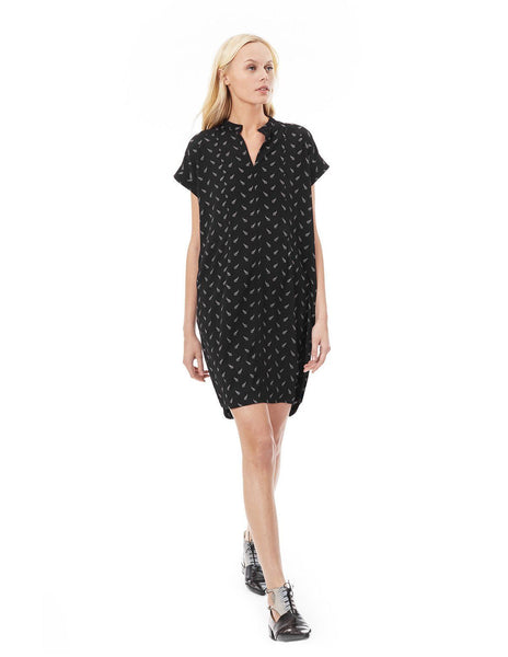 Cybelle - Black Arrowhead nursing and maternity dress